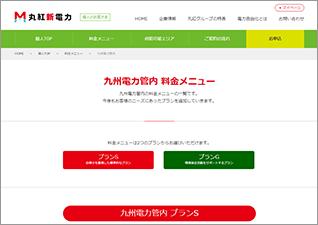 九州電力管内料金メニュー